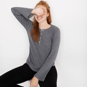 Madewell Heathered Thermal Henley Tee